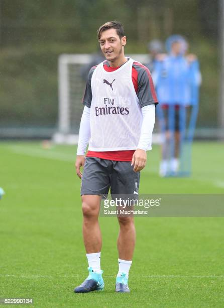 Mesut Ozil of Arsenal during a training session at London Colney on July 26 2017 in St Albans England