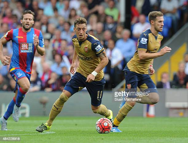 Mesut Ozil of Arsenal during the Barclays Premier League match between Crystal Palace and Arsenal at Selhurst Park on August 16 2015 in London United...