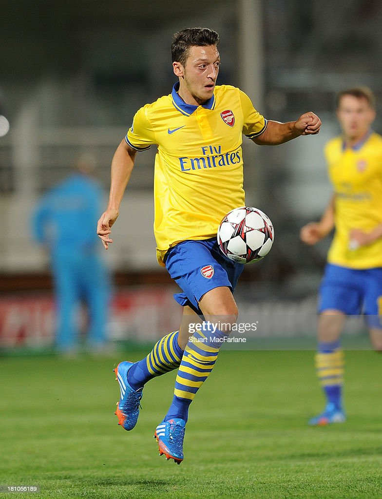 Mesut Ozil of Arsenal during the match at Stade Velodrome on September 18, 2013 in Marseille, France.