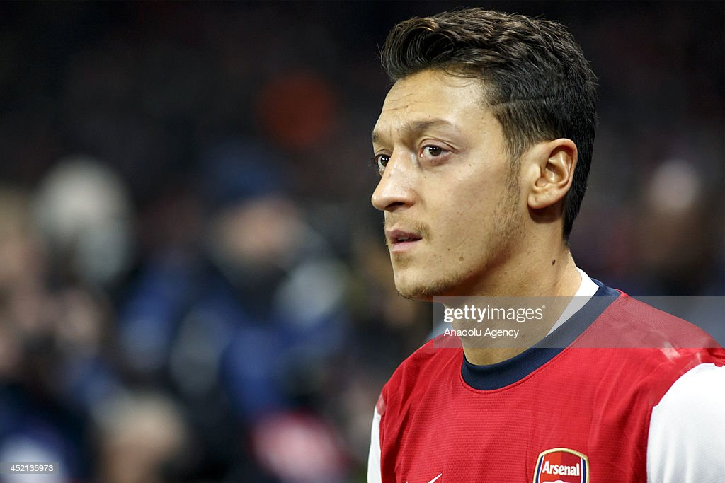 Mesut Ozil of Arsenal during the UEFA Champions League group F football match between Arsenal and Olympique de Marseille at the Emirates Stadium on November 26, 2013 in London, England.