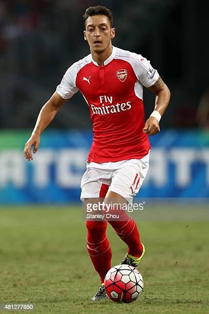 Mesut Ozil of Arsenal in action during the Barclays Asia Trophy final match between Arsenal and Everton at the National Stadium on July 18 2015 in...
