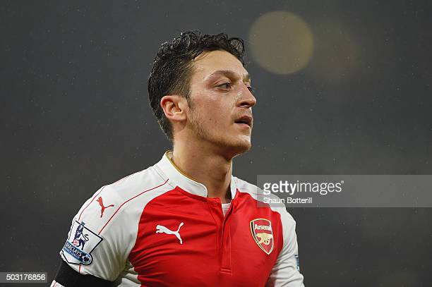 Mesut Ozil of Arsenal in action during the Barclays Premier League match between Arsenal and Newcastle United at Emirates Stadium on January 2 2016...