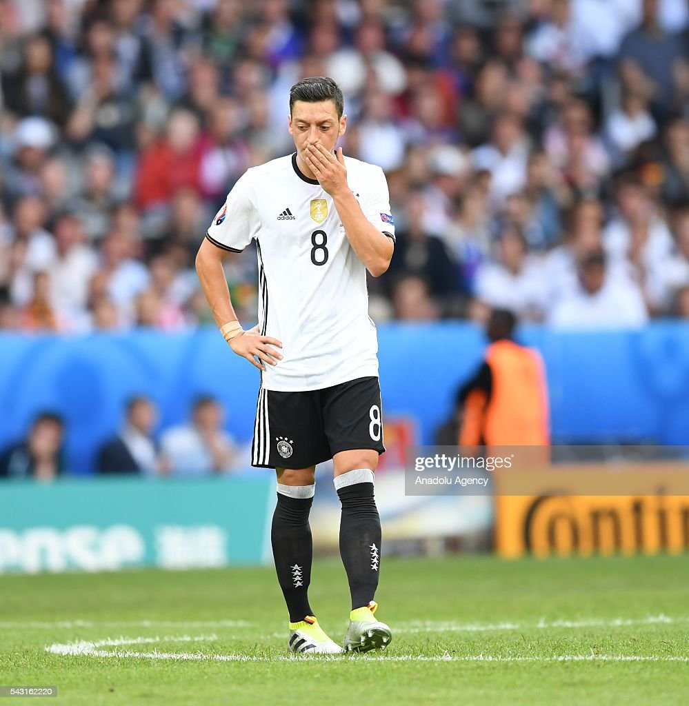 Mesut Ozil of Germany gestures during the UEFA Euro 2016 round of 16 football match between Germany and Slovakia at Stade Pierre Mauroy in Lille, France on June 26, 2016.