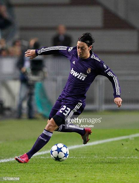Mesut Ozil of Real Madrid in action during the UEFA Champions League Group G match between Ajax Amsterdam and Real Madrid at Amsterdam Arena stadium...