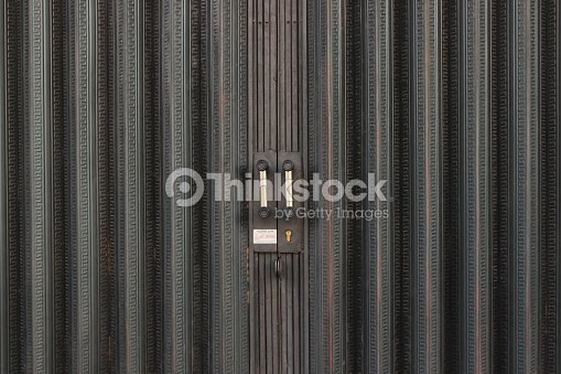 Metal Accordion Door Stock Photo Thinkstock