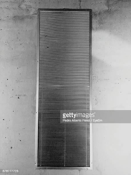 Metal Air Duct On Wall