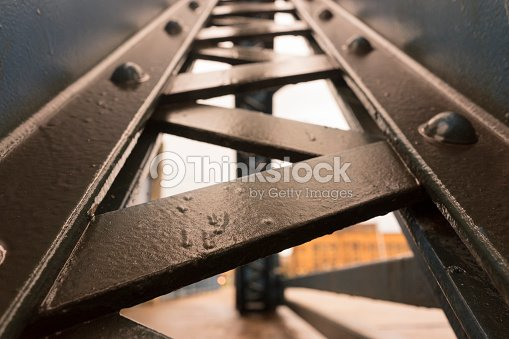 Metal Beam Industrial Structure : Stock Photo