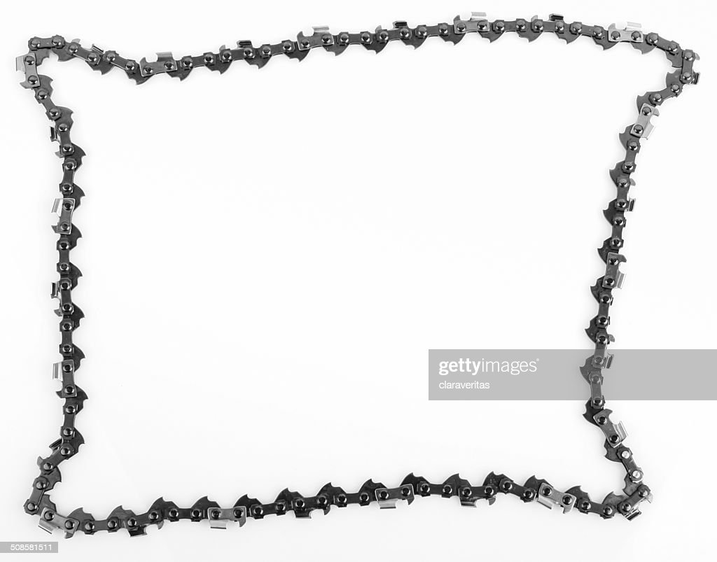 metal chain saw pattern background : Stock Photo