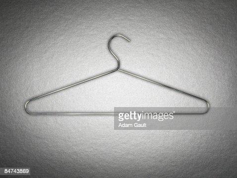 Metal coat hanger : Stockfoto
