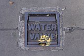 Metal cover 'Water Valve'.