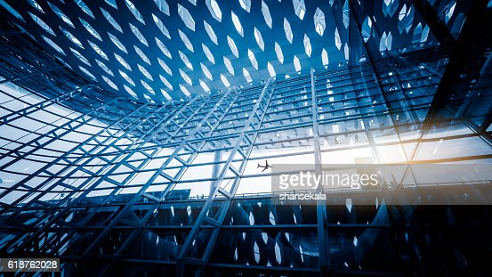 Metall-details ein der Innenseite des modernen Bürogebäude : Stock-Foto