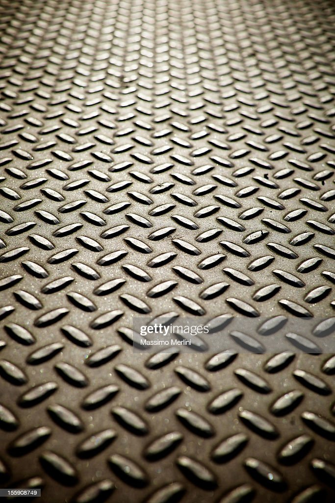 Metal Diamond Plate Flooring : Stock Photo