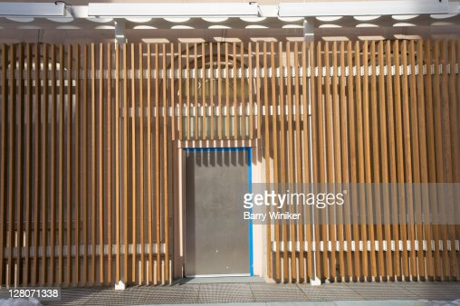 Wood slat exterior stock photos and pictures getty images