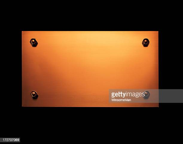 Metal doorplate