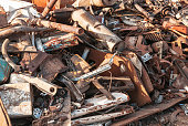 rusty metal garbage (dump) as a texture