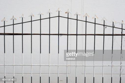 metal fence : Stock Photo