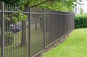 Metal industrial security fencing