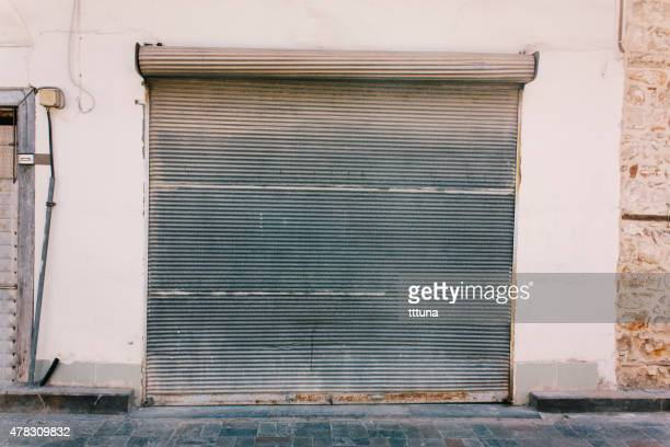 metal garage door, architecture of building exterior