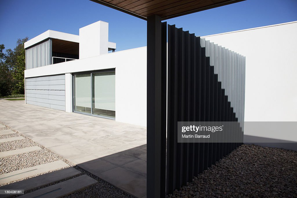 Metal Gate Of Modern House Stock Photo Getty Images