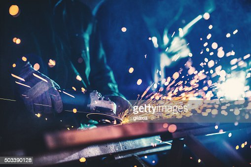 Metal industry routine.