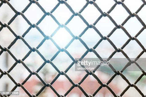 Metal lattice closeup : Stock Photo