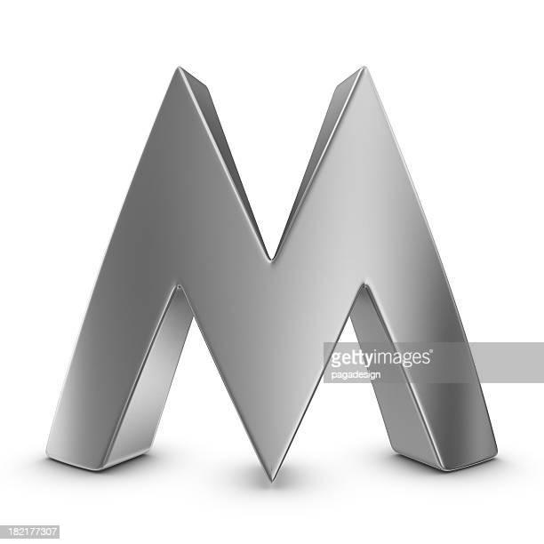 Métal Lettre M