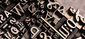 Historical letterpress types, also called as lead letters. These kind of letters were used in Guttenberg presses. These letters were the beginning of typography. And were used in typesetting