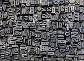 metal letters background