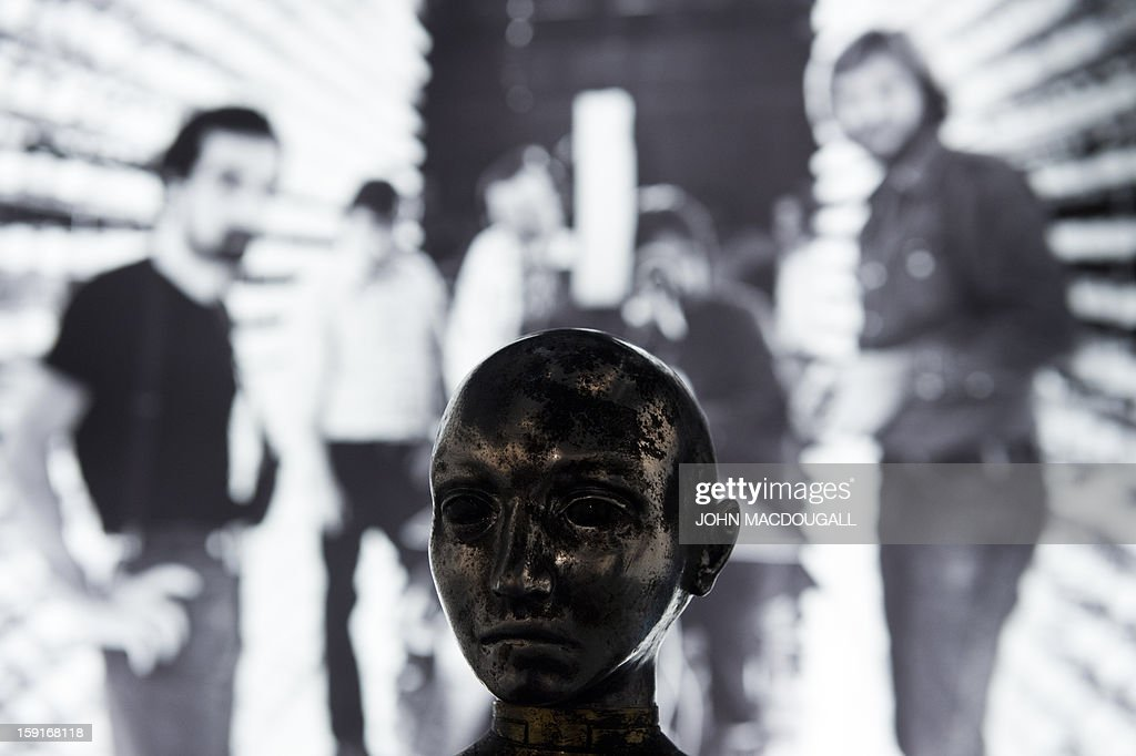 A metal mannequin head used in the film 'Hugo' (2011) is on display at the Martin Scorsese exhibition at the Deutsche Kinemathek, Museum for Film and Television in Berlin, Germany on January 9, 2013. The museum opens from January 10 to May 12, 2013 what it calls the first exhibition worldwide dedicated to the work of veteran US film-maker Martin Scorsese, who made his vast archive available for the show. A FP PHOTO / JOHN MACDOUGALL