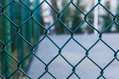 Metal mesh and sport court - Textured Background