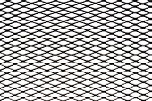 Metal mesh plating isolated against a white background - Grid