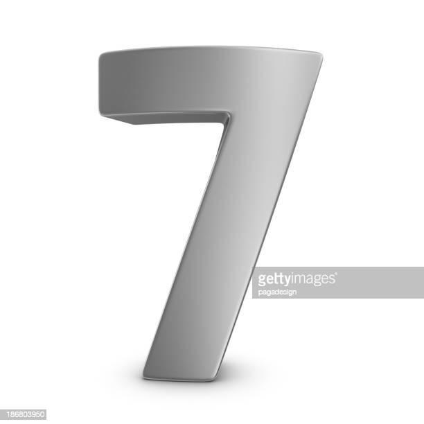 Numéro 7 en métal