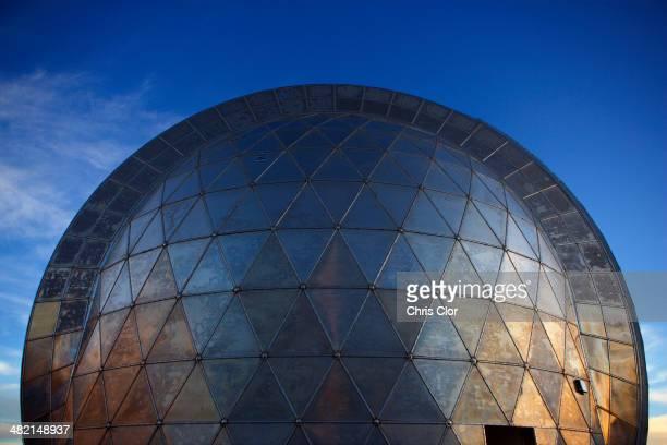 Metal observatory under blue sky