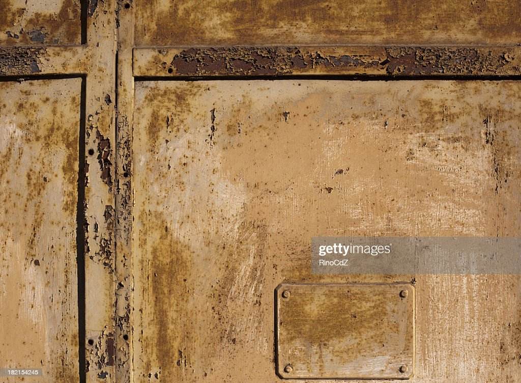 metal old door texture pattern background stock photo