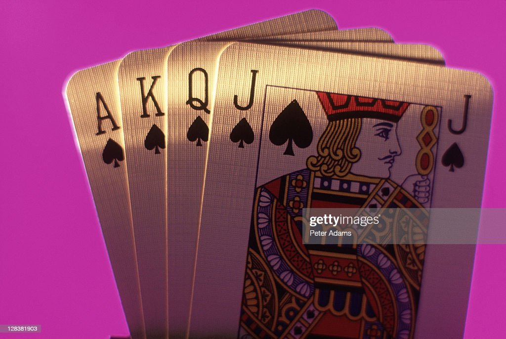 Metal playing cards : Stock Photo