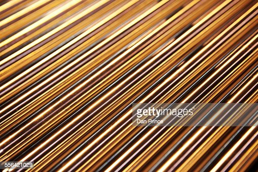 Metal rods, close-up