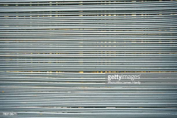 Metal rods, full frame