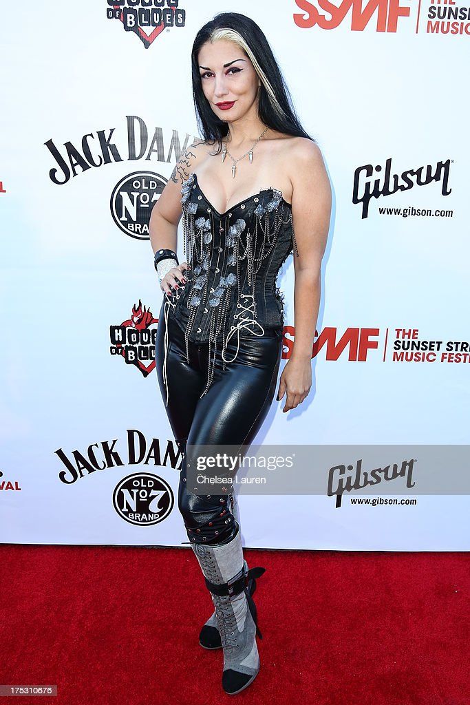 Metal Sanaz arrives at the 6th annual Sunset Strip Music Festival launch party honoring Joan Jett at House of Blues Sunset Strip on August 1, 2013 in West Hollywood, California.