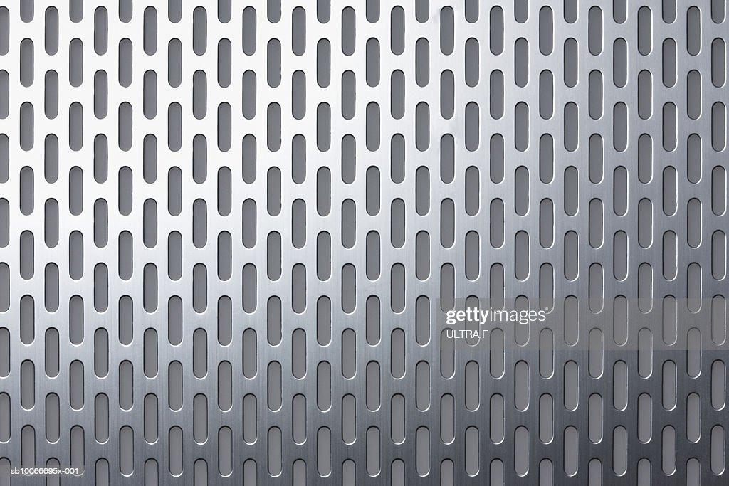Metal sheet with holes, full frame