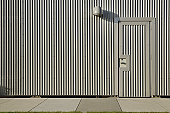 Metal siding on a commercial building