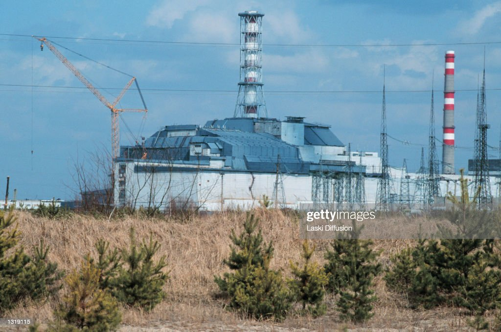 A metal structure encases the Chernobyl nuclear plant October 15, 2000 in Russia. The plant became unsafe May 1986 after an explosion caused massive leakage of radioactive gas into the environment.