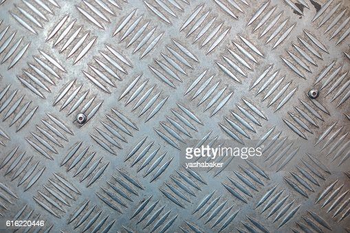 Metal surface with non-slip pattern : Stock Photo