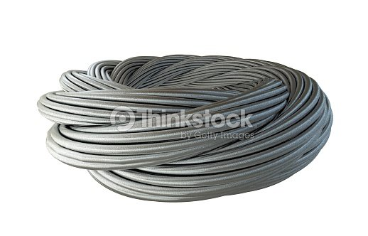Metal Thick Wreath Twisted Wire Cable In Chrome Silver Stock Photo ...