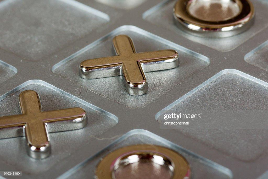 metal tic tac toe board : Stock Photo