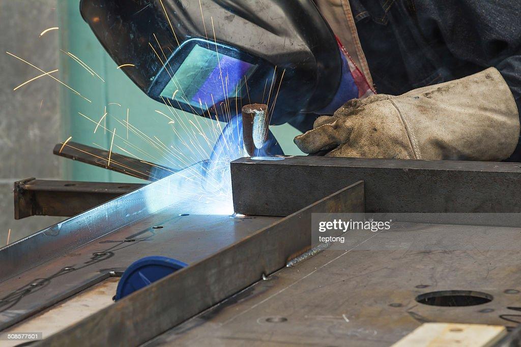 Metal welding : Stock Photo