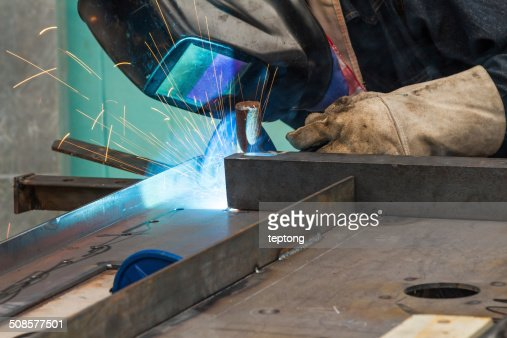 Metal welding : Stock Photo
