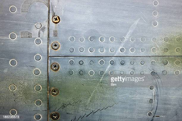 Metal XXXL Background With Rivets and Screws