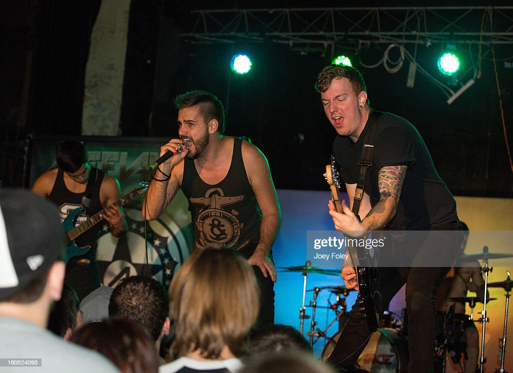 Metalcore band Affiance performs at The Emerson Theater on February 1, 2013 in Indianapolis, Indiana.