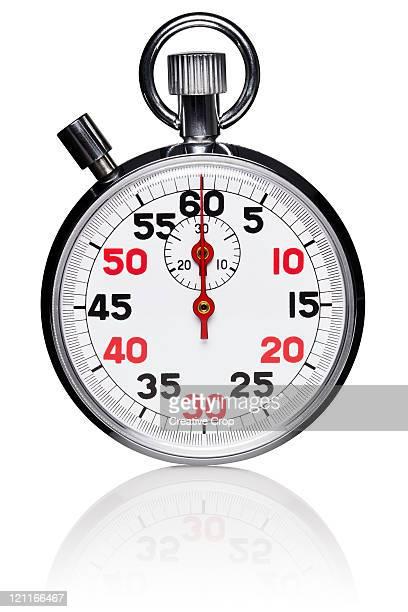 Metallic analogue stopwatch