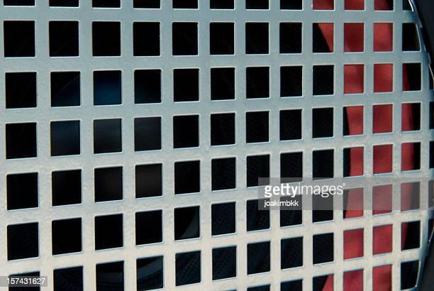 Metallic background of a grid from loudspeaker